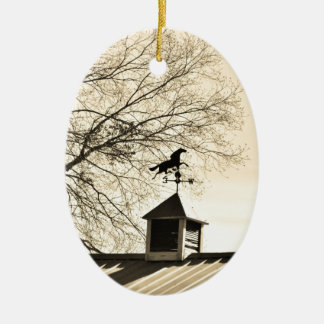 Horse Weather Vane sepia Christmas Tree Ornament