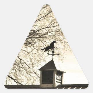 Horse Weather Vane sepia Triangle Sticker