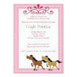HORSE Western Cowgirl 5x7 Baby Shower Invitation