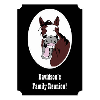 Horse Western Theme Family Reunion Custom Invite