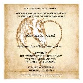 Horse Western Wedding invitations Announcements