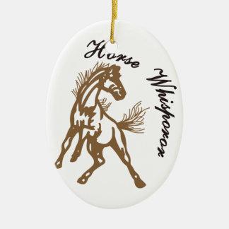 Horse Whisperer Ceramic Ornament