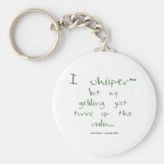 Horse Whisperer: Gelding with Radio Basic Round Button Keychain