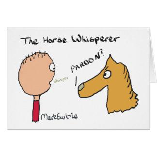 Horse Whispering Card