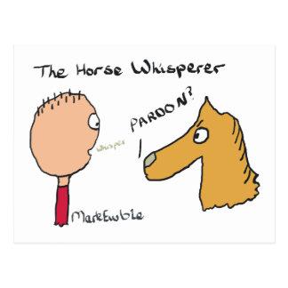 Horse Whispering Postcard