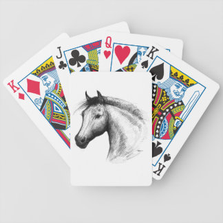 Horse:  White Bicycle Playing Cards