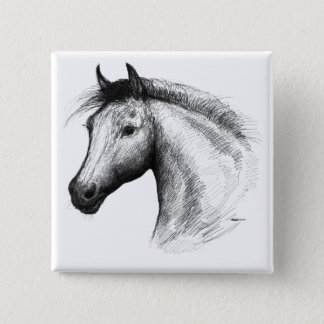 Horse:  White Button