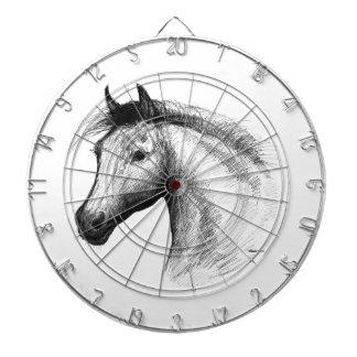 Horse:  White Dart Boards