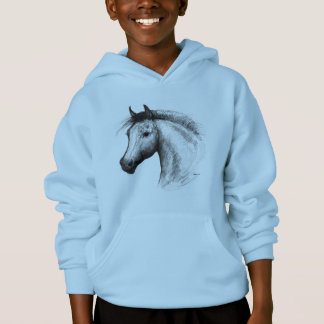 Horse:  White Hoodie