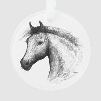 Horse:  White Ornament