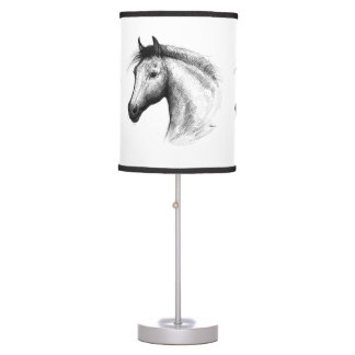 Horse:  White Table Lamp