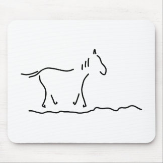 horse wild horse ride mouse pad