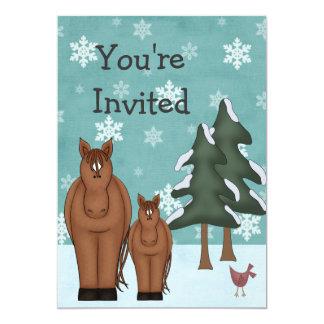 Horse Winter Baby Shower Invitation