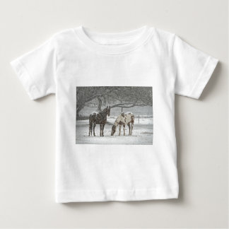 horse winter snow farm ranch animals snowy frozen baby T-Shirt