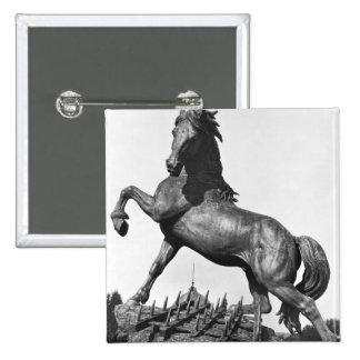 Horse with a harrow button