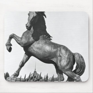 Horse with a harrow mouse pad