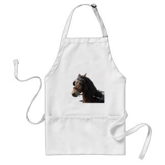 Horse with bridle apron