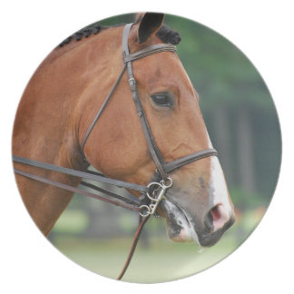 Horse with Bridle  Plate