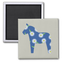 horse with daisys magnet