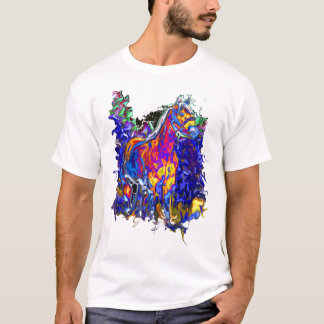 Horse with Galloping Colors T-Shirt