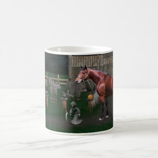 Horse With Ghoul Friends Halloween Mug