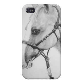 horse with halter rodeo iPhone 4 cover