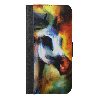 Horse with multi colors iPhone 6/6s plus wallet case