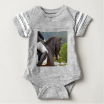 Horse with Raising Baby Bodysuit