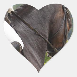 Horse with Raising Heart Sticker