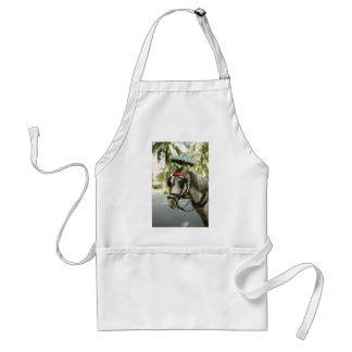 Horse with sunshade Madrid Spain Apron