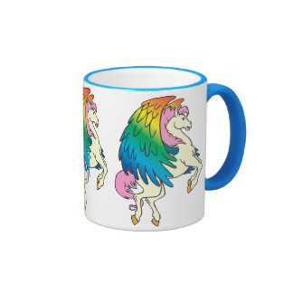 Horse with the Rainbow Wings Coffee Mugs