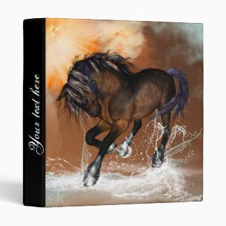 Horse with watersplash 3 ring binder