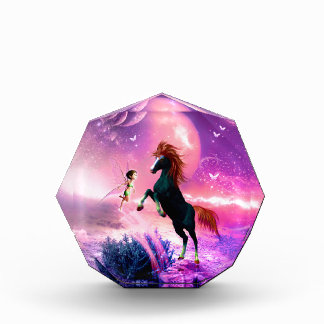 Horse with wonderful fairy acrylic award