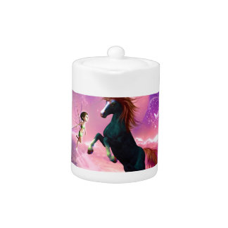 Horse with wonderful fairy teapot