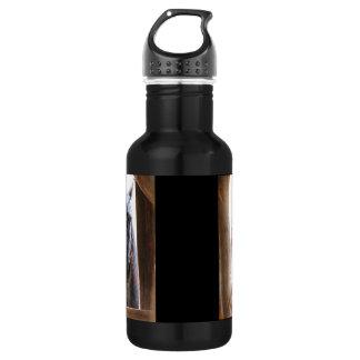 Horse Woodgrain Stainless Steel Water Bottle