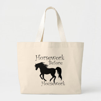Horse Work Before House work Canvas Bags