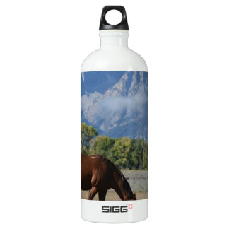 Horse, Wyoming Ranch Aluminum Water Bottle