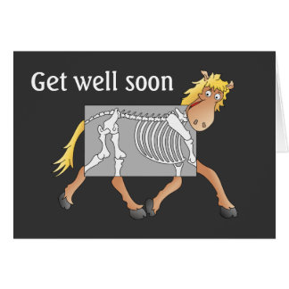 Horse x-ray card, get well soon card