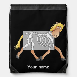 Horse x-ray drawstring backpack