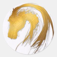 Horse Year Chinese Zodiac Round Sticker at Zazzle