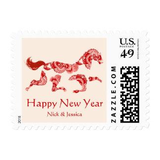 Horse Zodiac Cream Chinese New Year Stamp