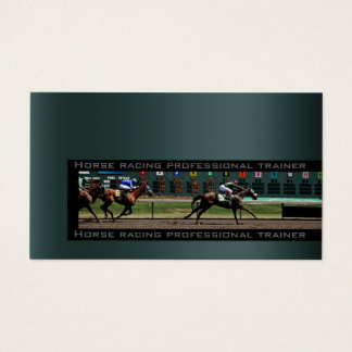 Horseback Racing Pro Trainer Business Card