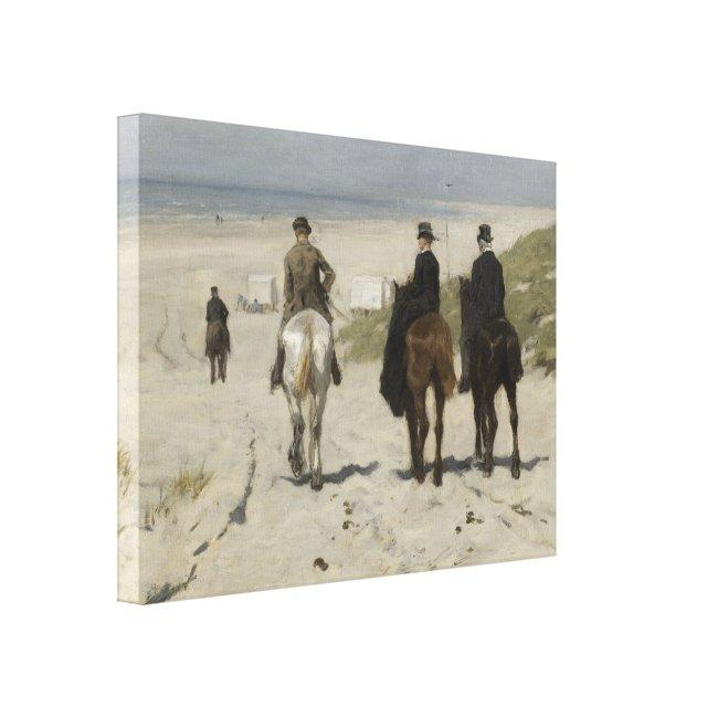 Horseback Ride along the Beach - Fine Art Canvas