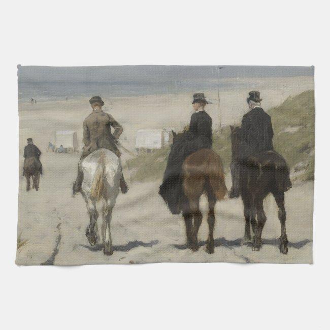 Horseback Ride along the Beach Fine Art