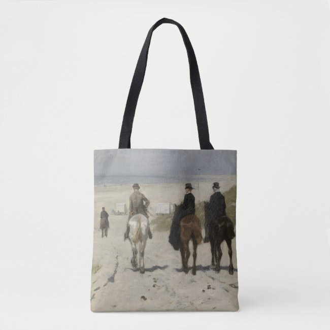 Horseback Ride along the Beach - Fine Art