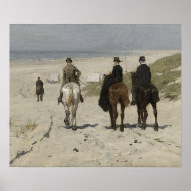 Horseback Ride on the Beach, A. Mauve - Art Poster
