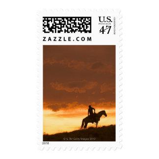 Horseback rider 10 postage stamp