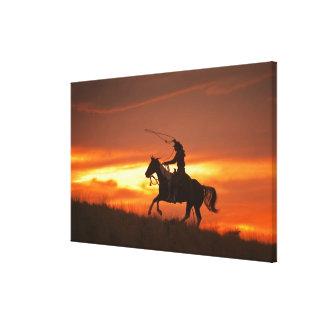 Horseback rider 11 canvas print