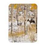 Horseback rider 13 rectangular magnet