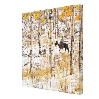 Horseback rider 14 canvas print